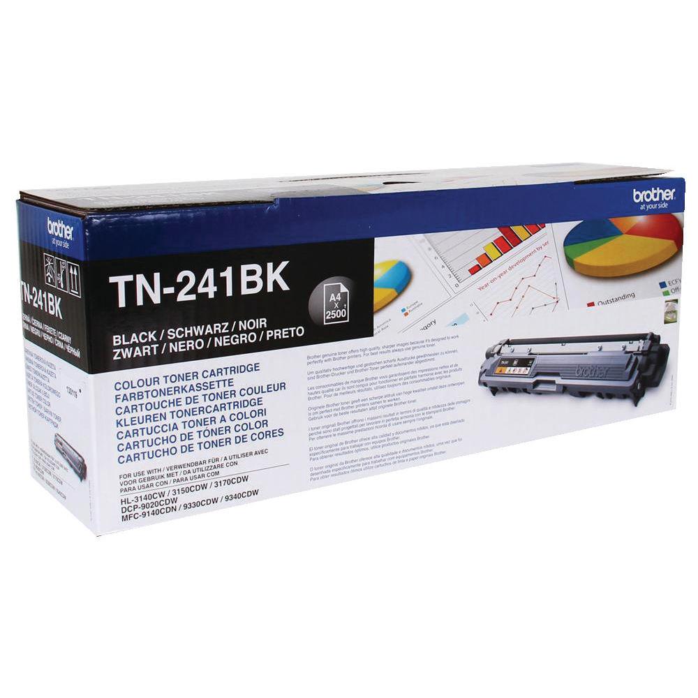 Brother TN-241BK Black Laser Toner Cartridge TN241BK