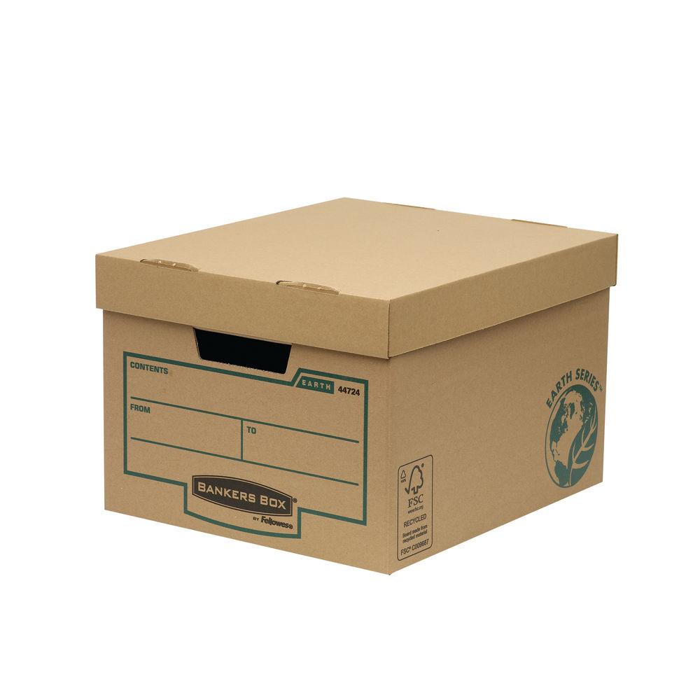 Bankers Box Earth Series Brown Storage Box, Pack of 10 - 4472401