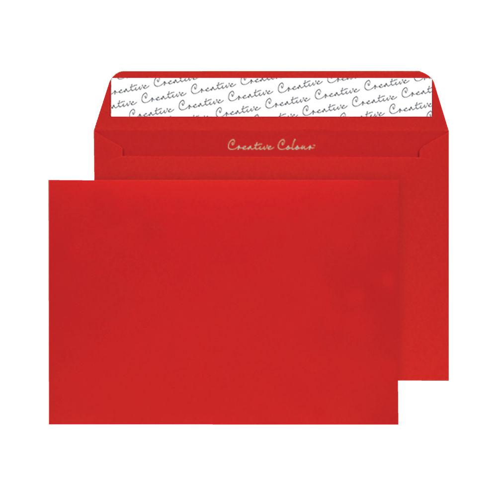 Blake Red C4 Wallet Peel & Seal Envelope, 120gsm - Pack of 250 - BLK93024