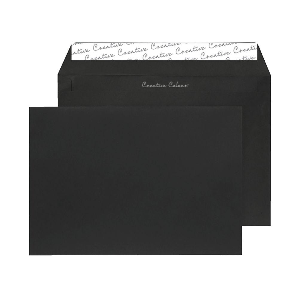 C5 Wallet Envelope Peel and Seal 120gsm Jet Black (Pack of 250) 314