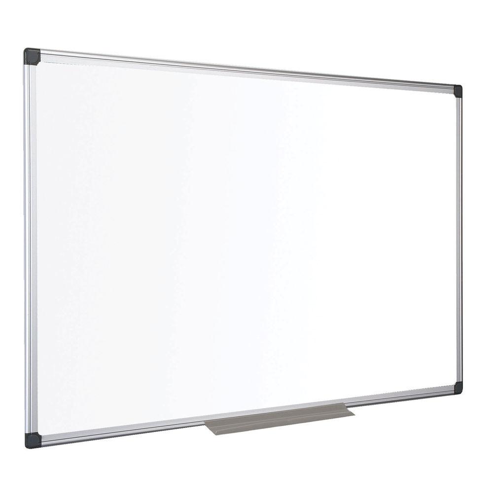 Bi-Office Drywipe Non Magnetic Melamine Whiteboard, 1500x1000mm - MA1512170