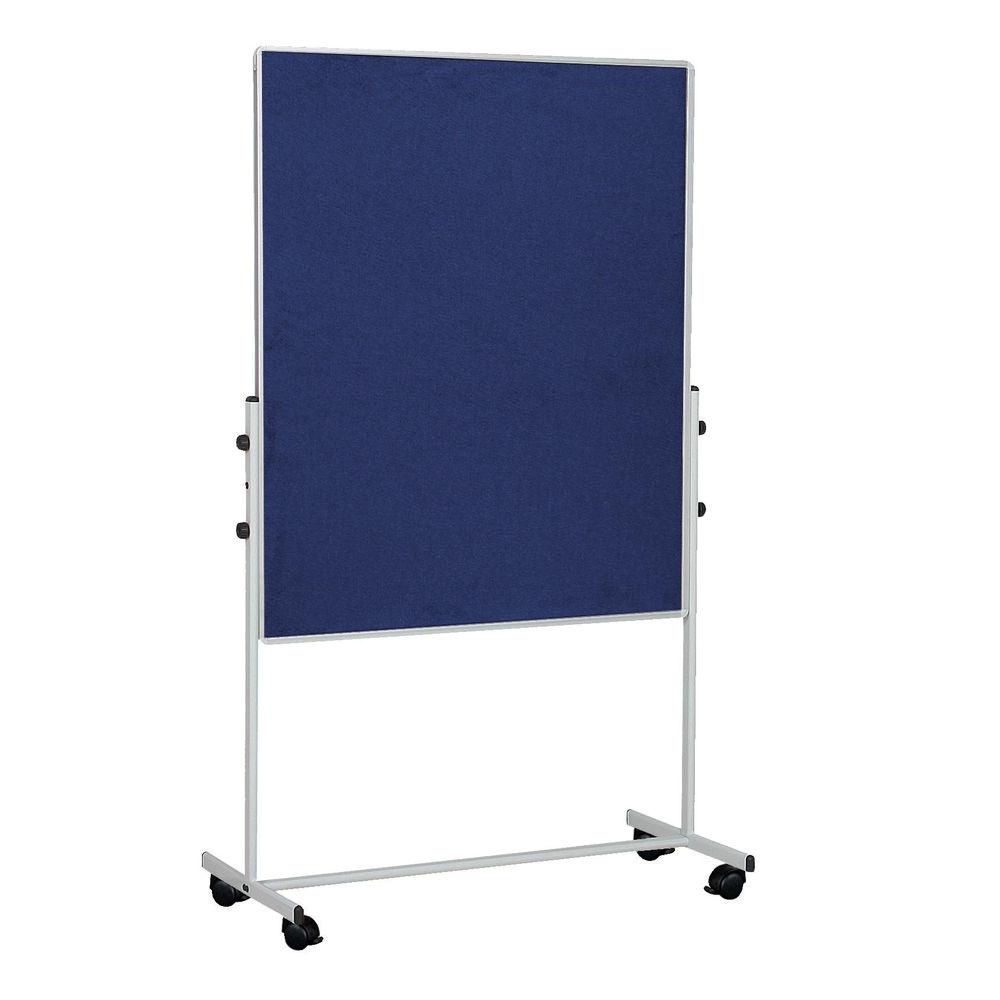 Bi-Office Blue 1500x1200mm Mobile Felt Board - EA8327075