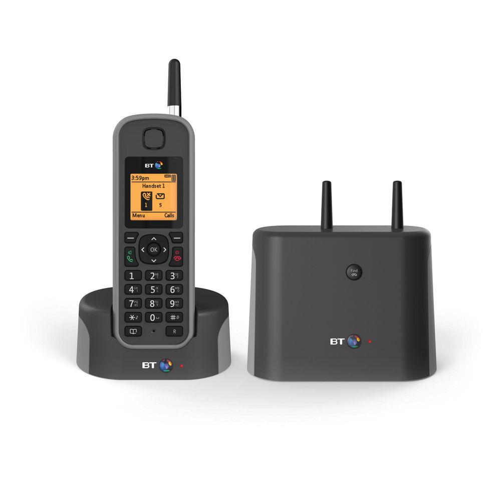 BT Elements 1K DECT Cordless Phone Black/Grey 079482