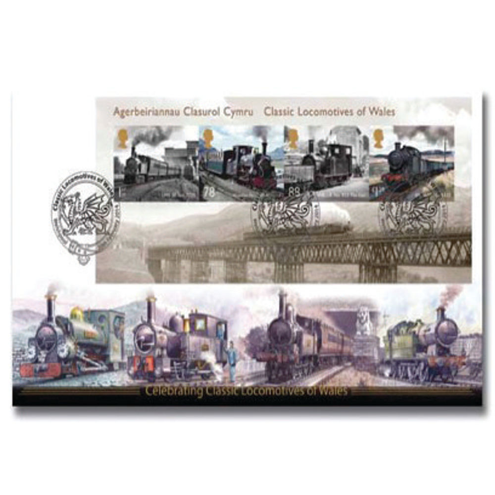 Classic Locomotives of Wales Miniature Sheet First Day Cover - BC503M