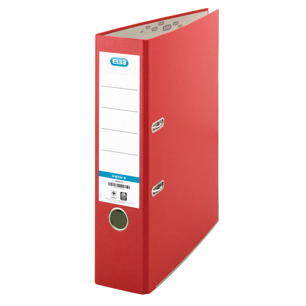 Elba A4 Red Lever Arch Files 70mm - Pack of 10 - BX09614