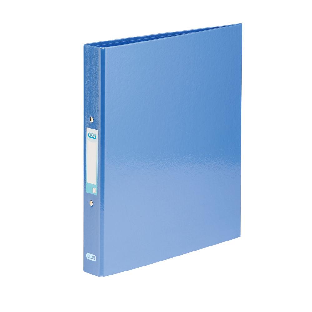 Elba Classy Metallic Blue A4 Plus 2 O-Ring Binders 25mm - 400017757