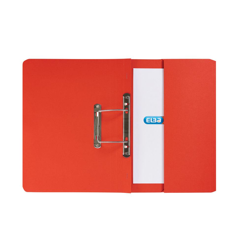 Elba Strongline Spring Pocket File Foolscap Red (Pack of 25) 100090278