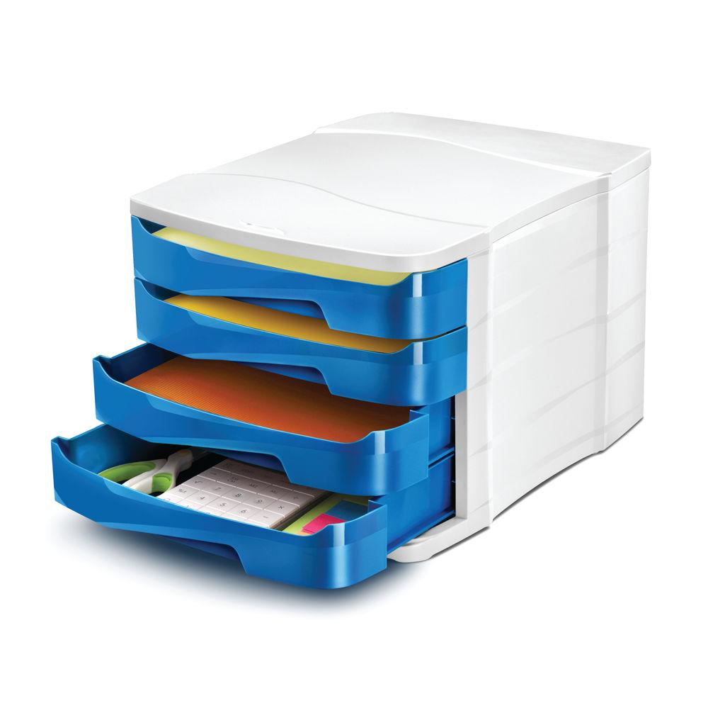 CEP Pro Blue Gloss 4 Drawer Set | 394BI G BLUE