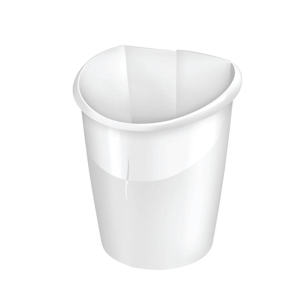 CEP 15 Litre Arctic White Ellypse Waste Bin - 1003200021