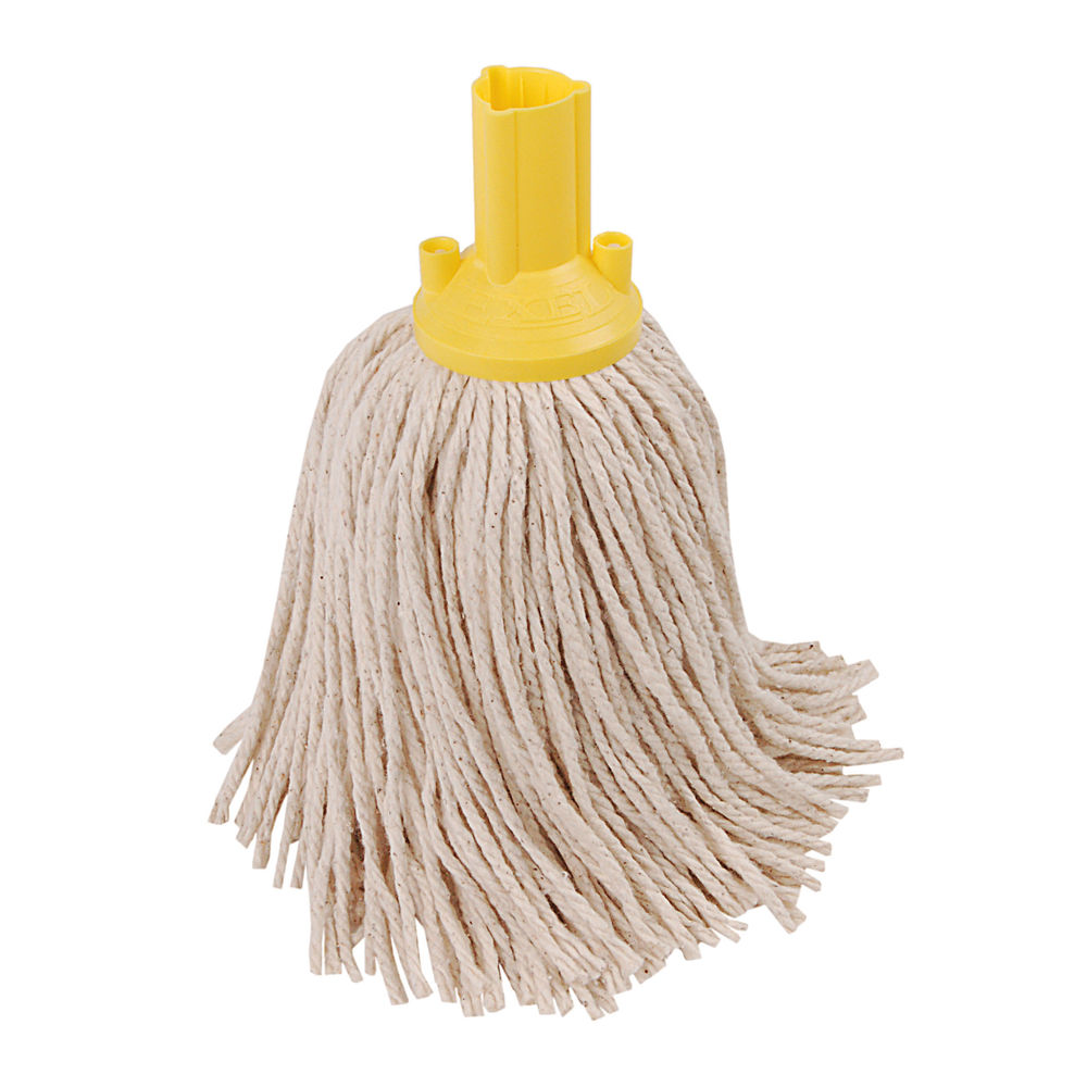Exel Yellow Mop Heads (Pack of 10) - 102268