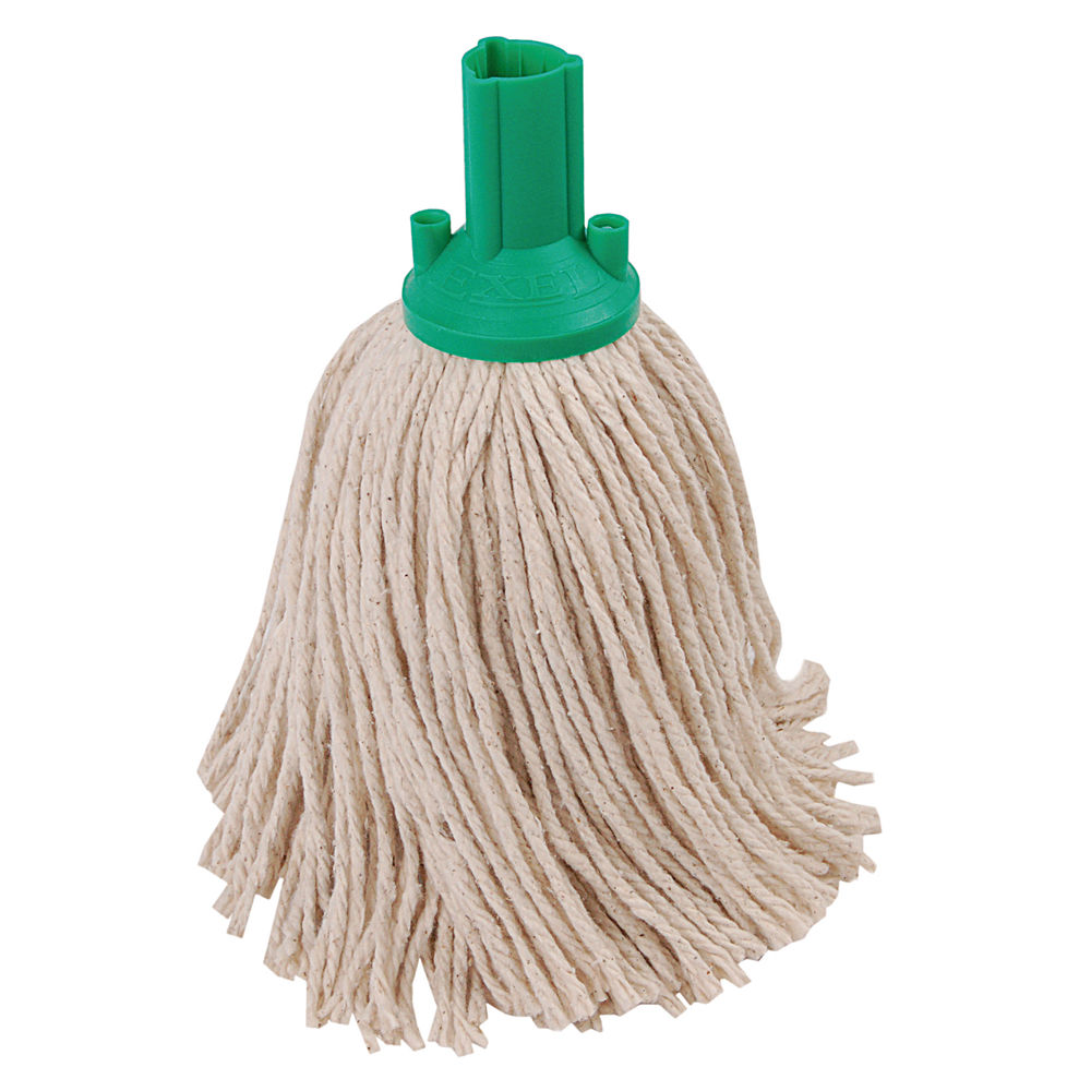 Exel Green Mop Heads, Pack of 10 - 102268