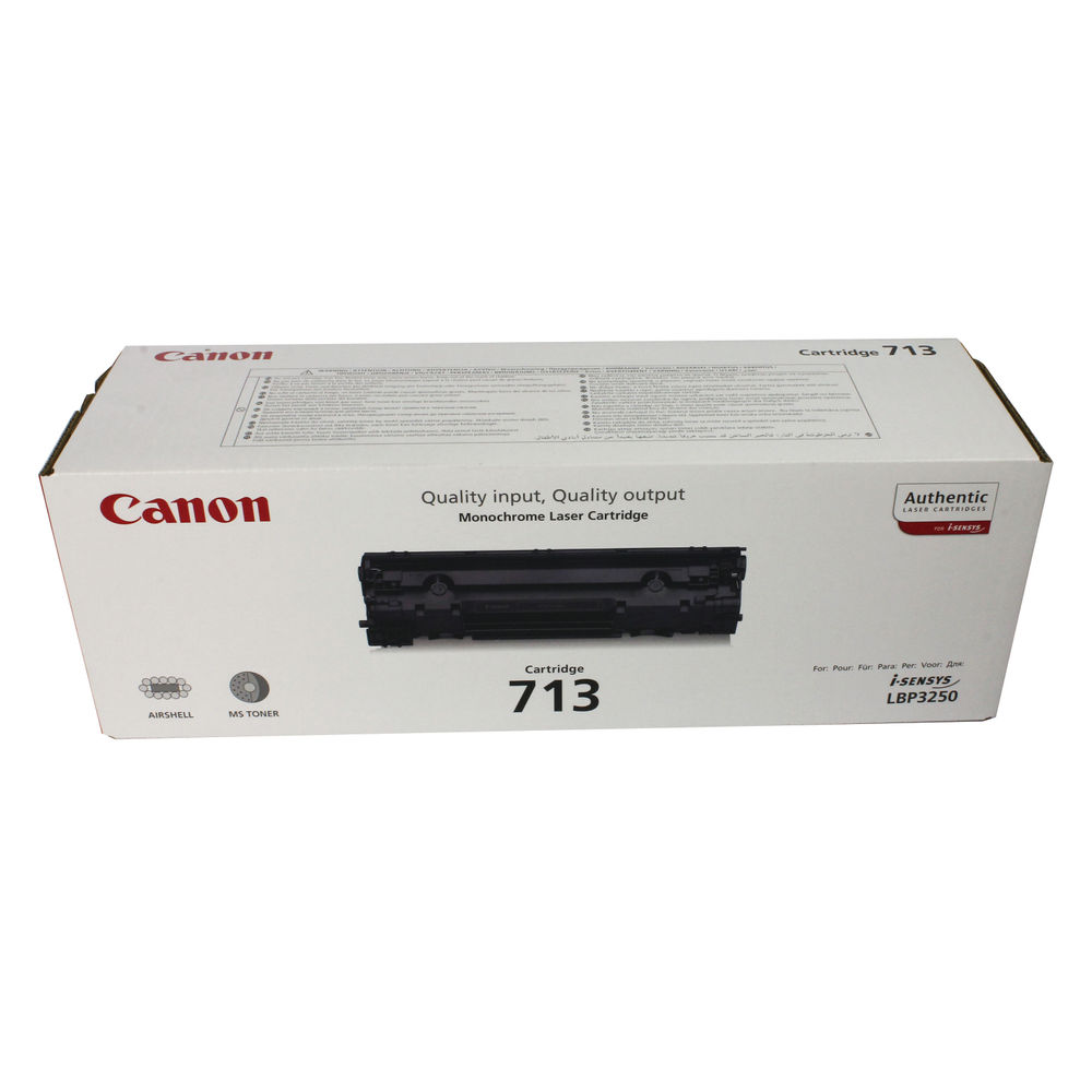 Canon 713 Black Laser Toner Cartridge - 1871B002AA
