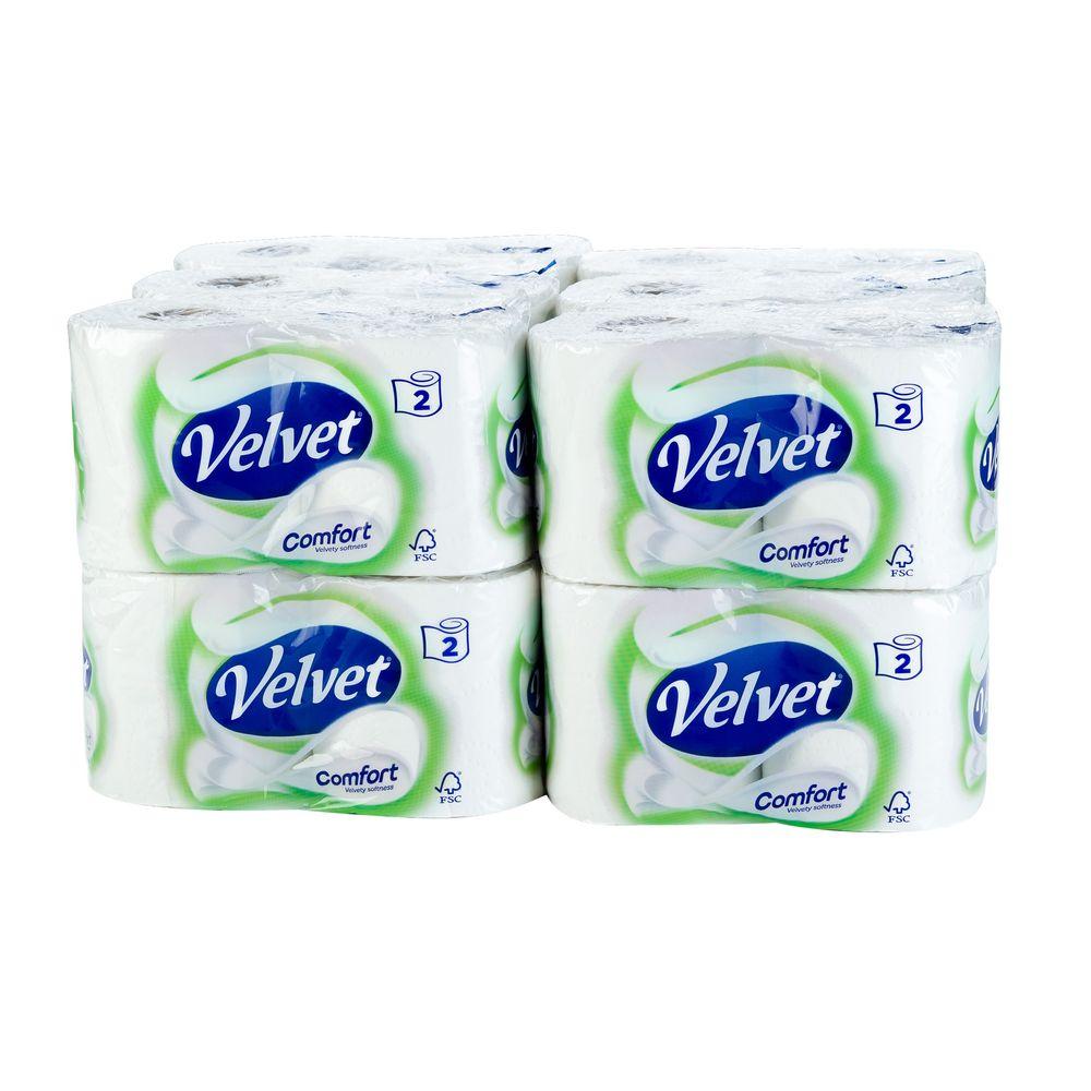 Velvet White 2-Ply Toilet Rolls, Pack of 24 - 1102088