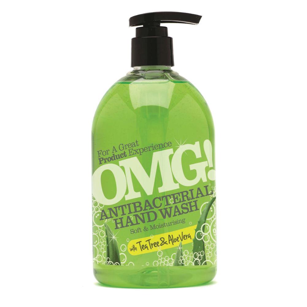 OMG 500ml Tea Tree and Aloe Vera Antibacterial Hand Wash - 0604399