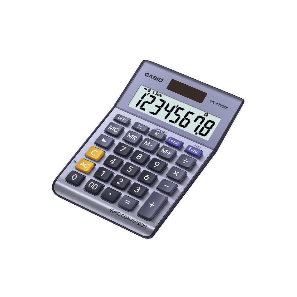 Casio 8-Digit MS-80VERII Semi-Desktop Calculator - MS-80VERII