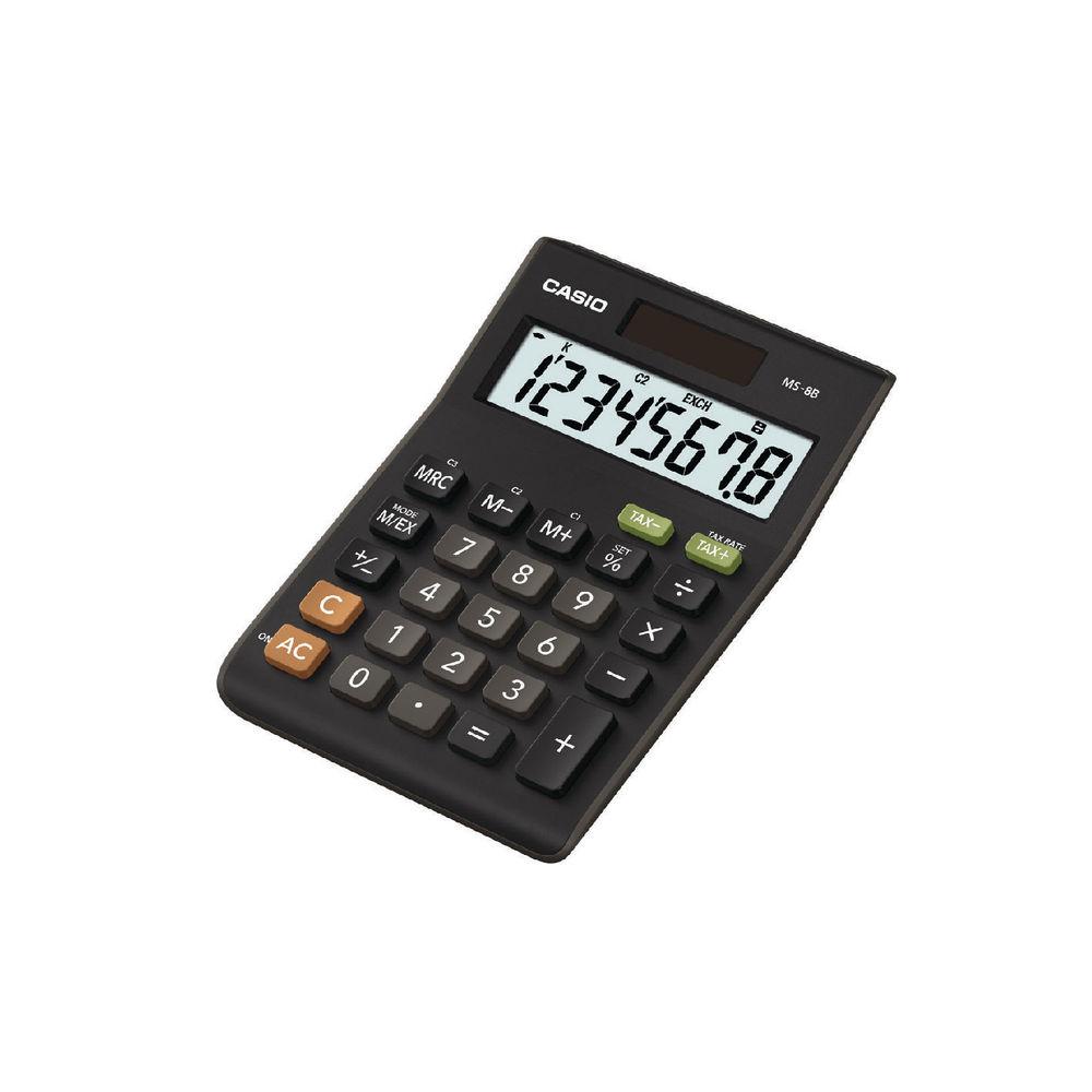 Casio 8-Digit MS-8B Semi-Desktop Calculator - MS-8B