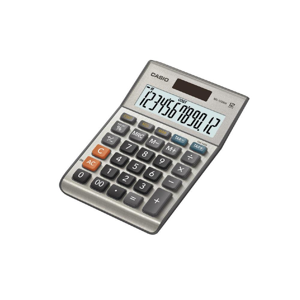 Casio 12-Digit MS-120BM Desktop Calculator - MS-120BM