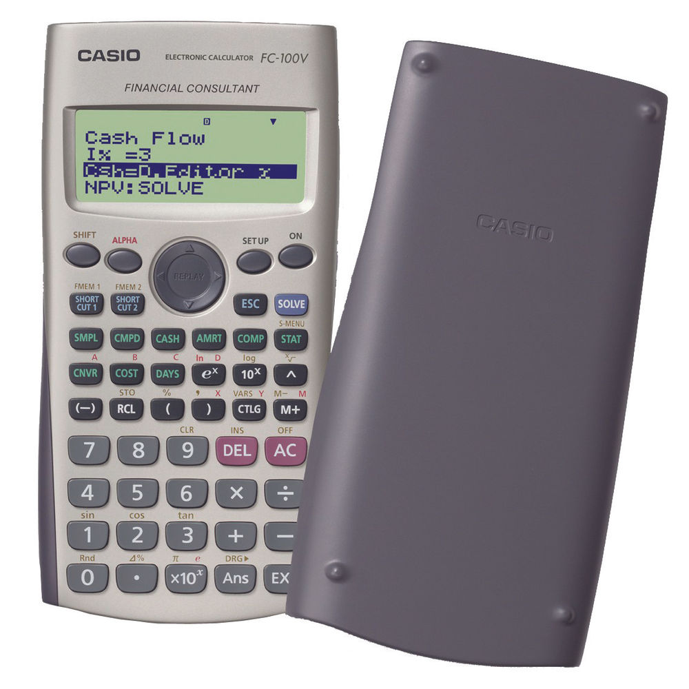 Casio Financial Calculator 12-Digit Silver FC-100V-UM