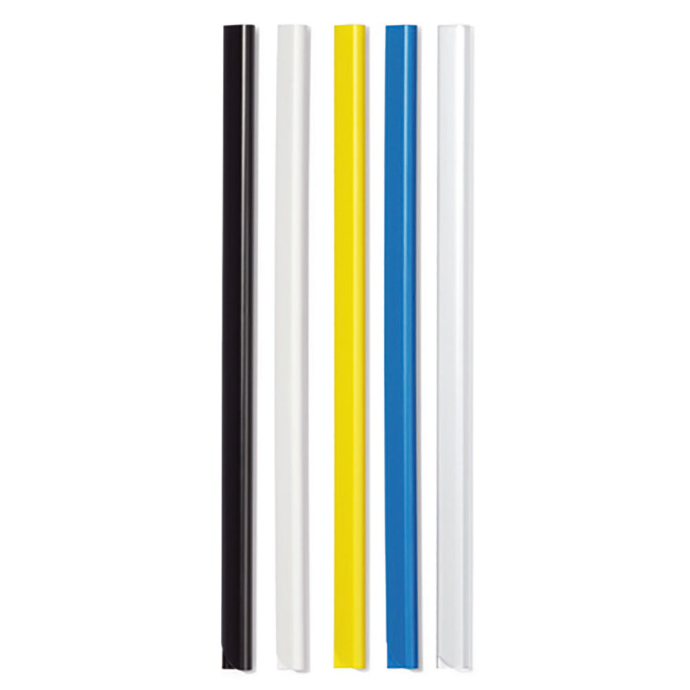 Durable A4 Black 6mm Spine Bars, Pack of 50 - 2931/01