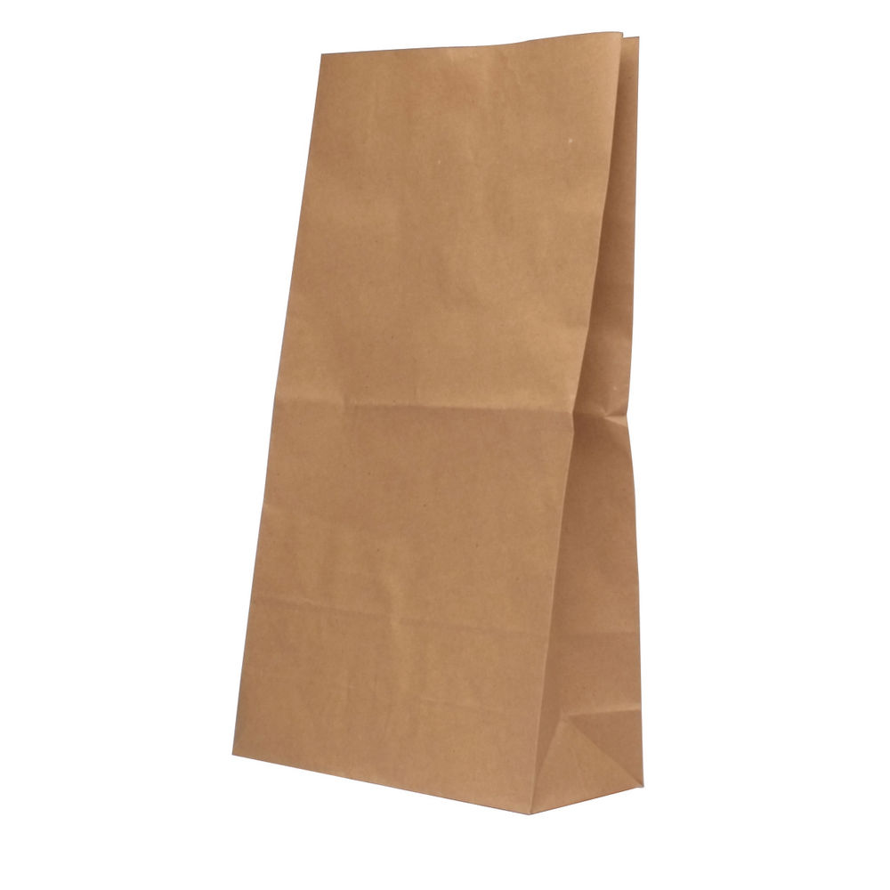 Brown 6.5Kg Paper Bags Pack Of 125 215 x 90 x 387mm 302168