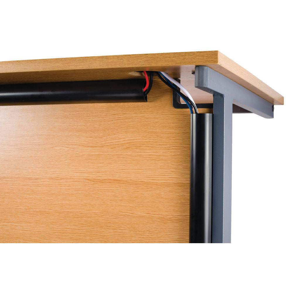 D-Line Black 50x25mm x 1.5m Desk Trunking Cable - 2D155025B
