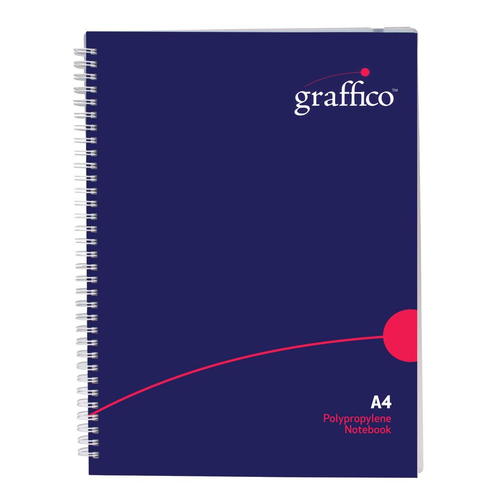 Graffico A4 Wirebound Hard Cover Feint Ruled Notebook - EN08810