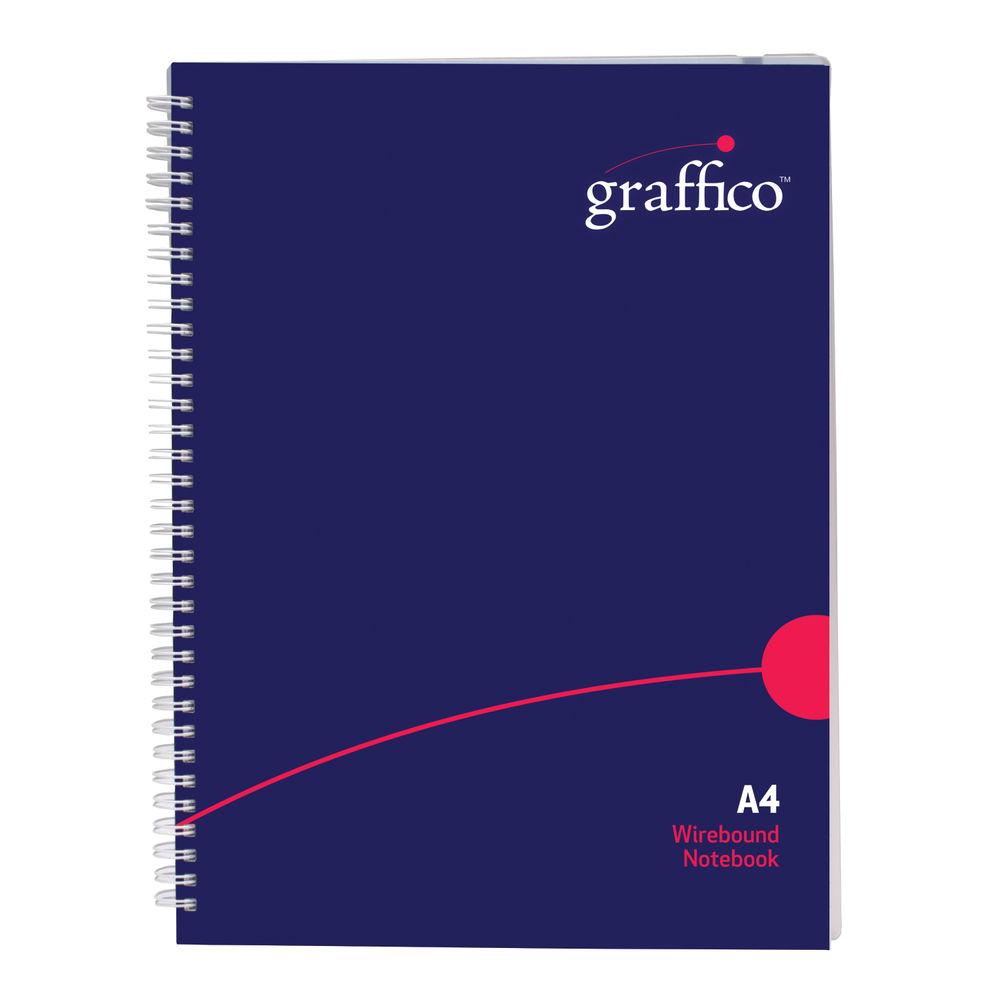 Graffico Polypropylene Wirebound Notebook 140 Pages A4 500-0504