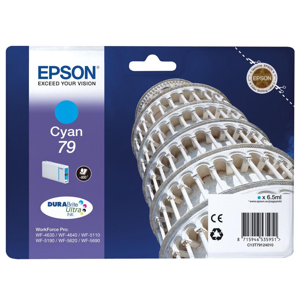 Epson 79 Cyan Inkjet Cartridge C13T79124010 / T7912