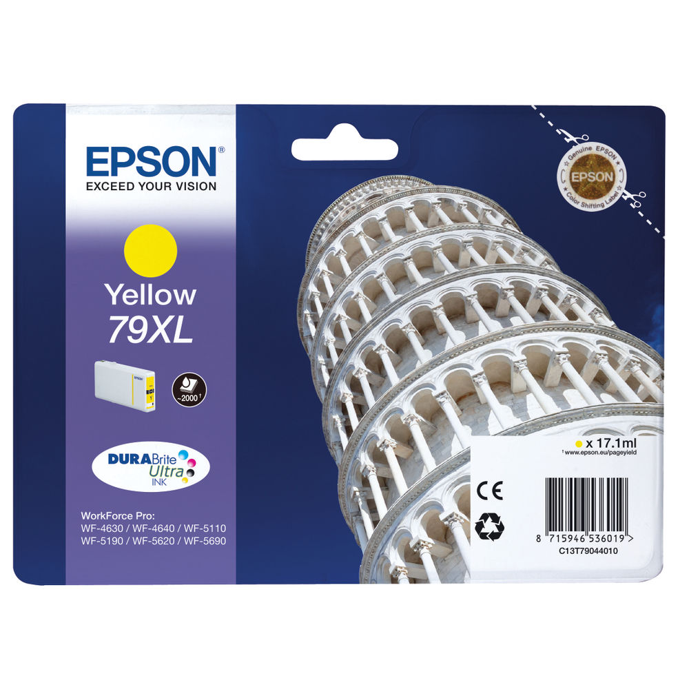 Epson 79XL High Capacity Yellow Ink Cartridge - C13T79044010
