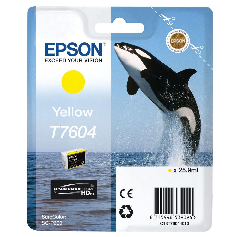 Epson T7604 Yellow Ink Cartridge C13T76044010 / T7604