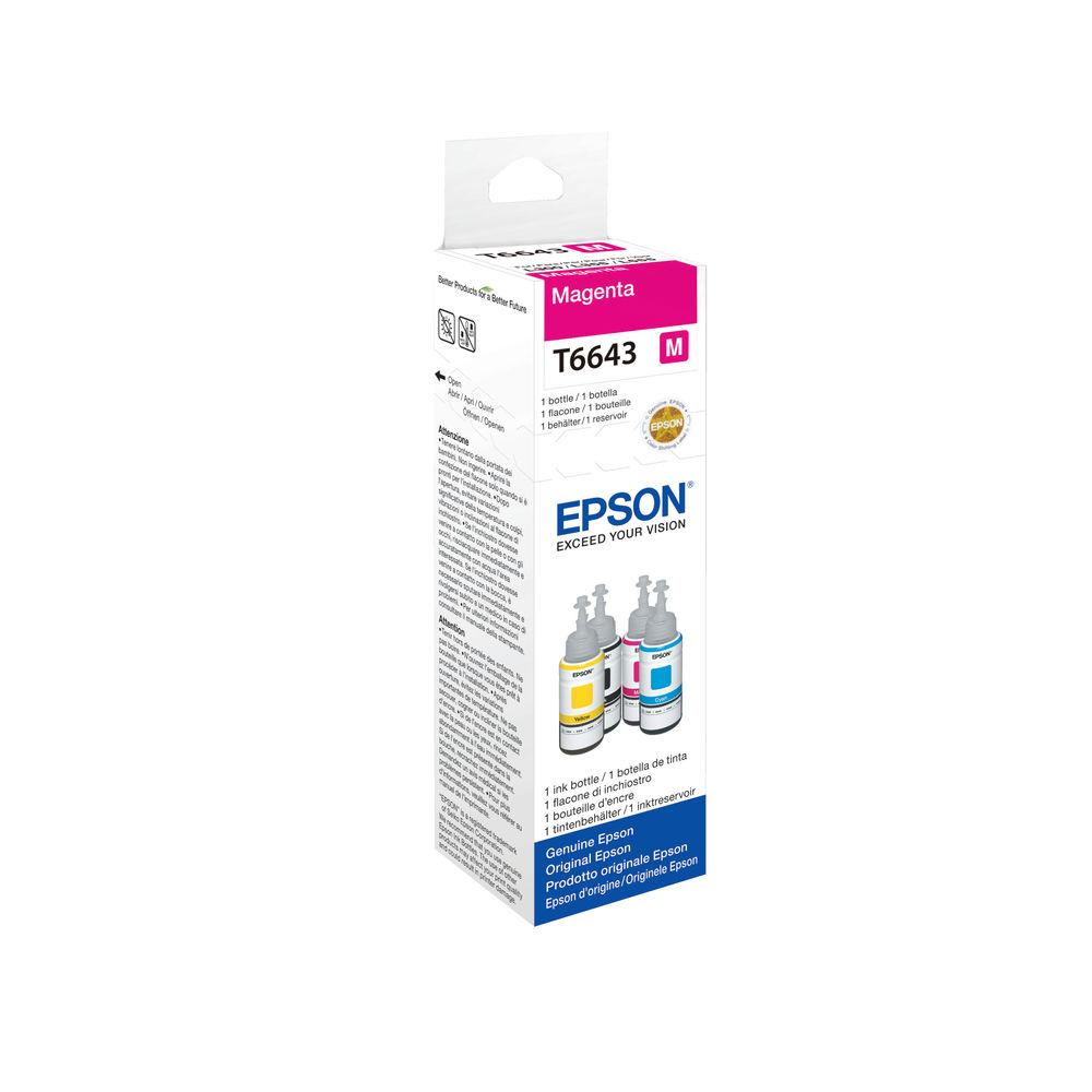 Epson T6643 Magenta Ink Bottle - C13T664340