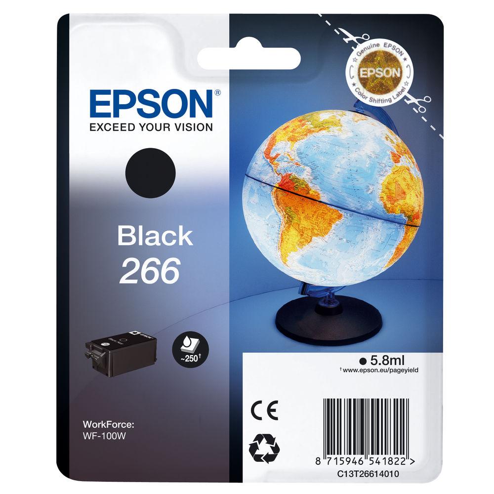 Epson 266 Black Ink Cartridge - C13T26614010