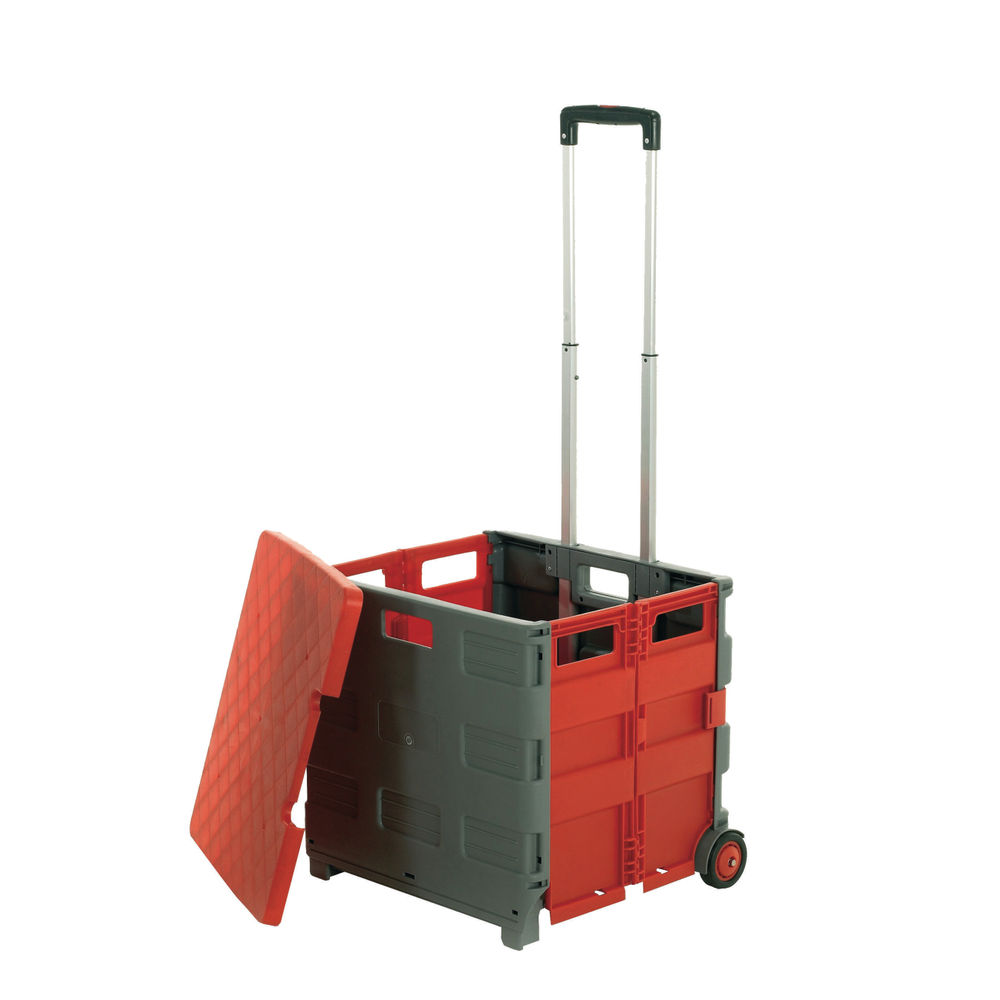 GPC Grey and Red Large Folding Box Truck With Lid GI042Y