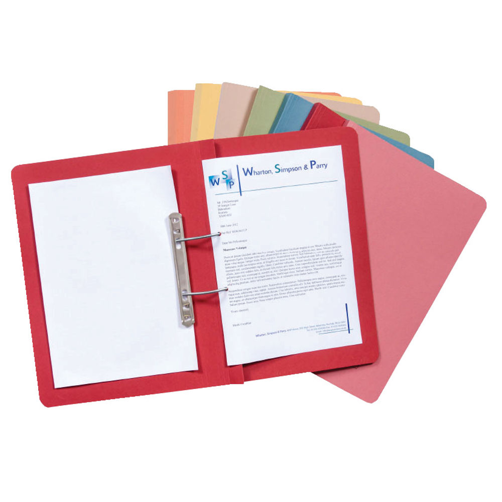 Guildhall Blue Foolscap Transfer Spiral Files 38mm - Pack of 50 - GH22128