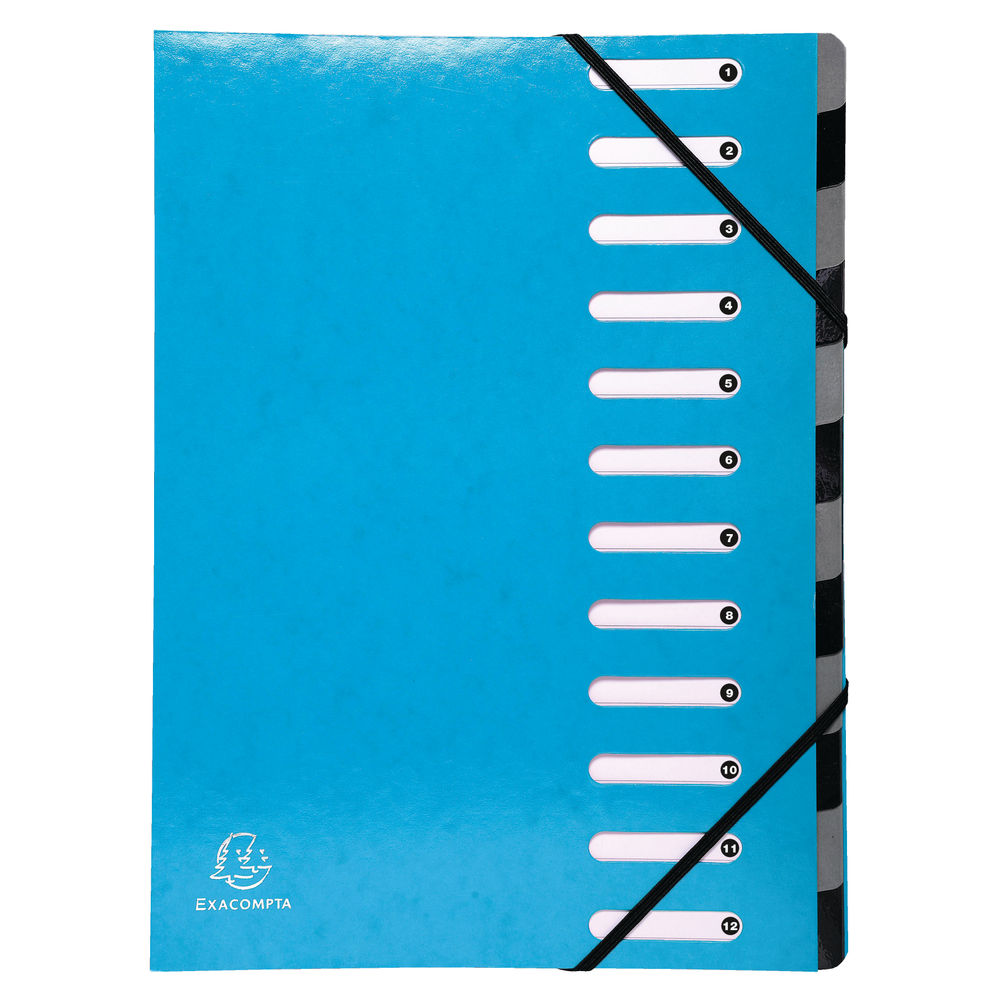 Exacompta Iderama 12-Part File A4 Light Blue 53927E