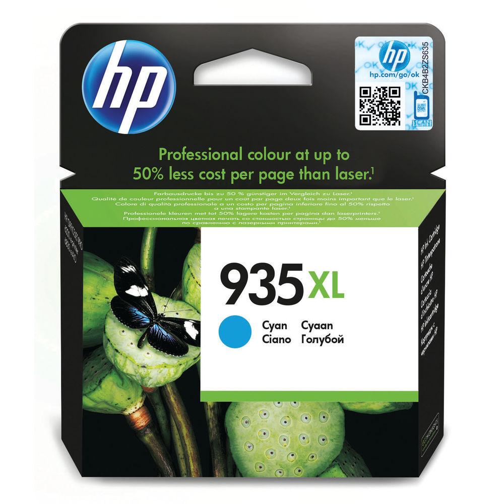 HP 935 XL Cyan Ink Cartridge - High Capacity C2P24AE