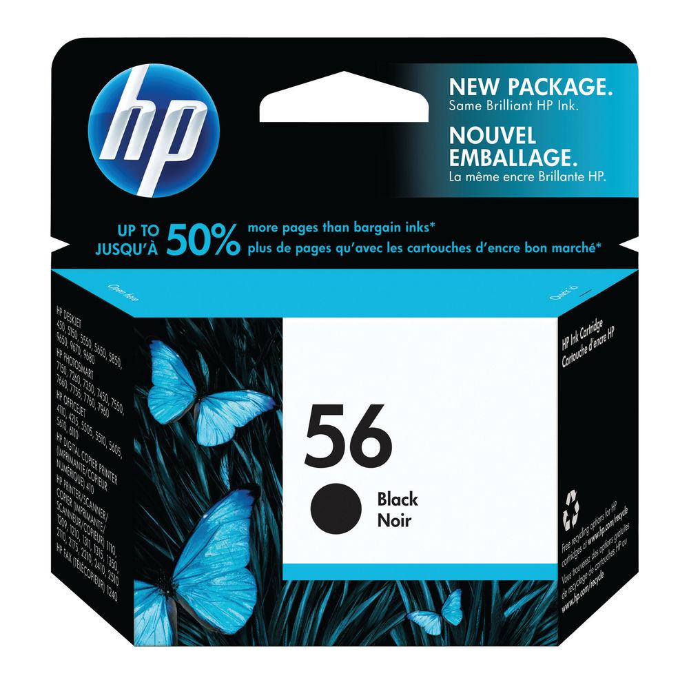 HP 56 Black Ink Cartridge - High Capacity C6656AE