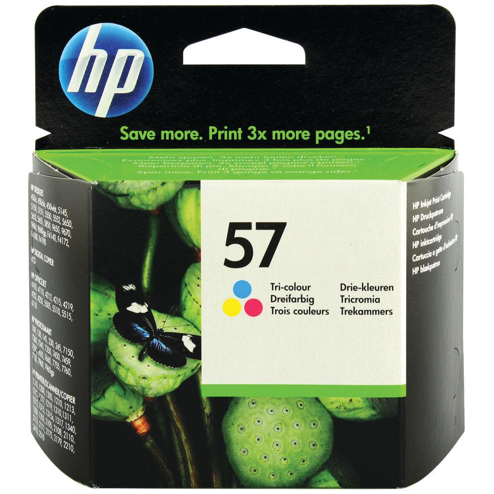 HP 57 Cyan/Magenta/Yellow Inkjet Cartridge C6657AE