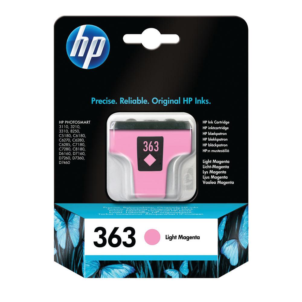 HP 363 Light Magenta Standard Yield Ink Cartridge | C8775EE