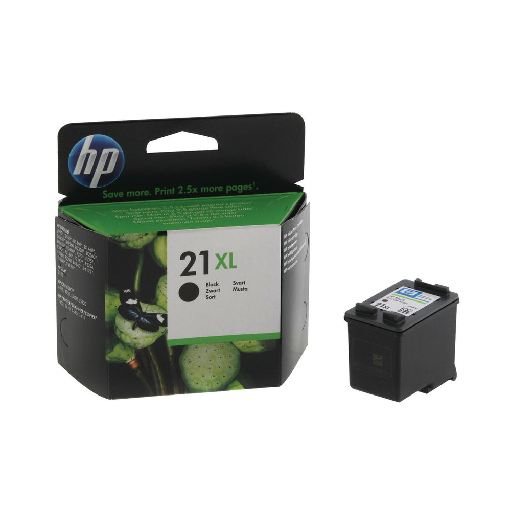 HP 21 XL Black Ink Cartridge - High Capacity C9351CE