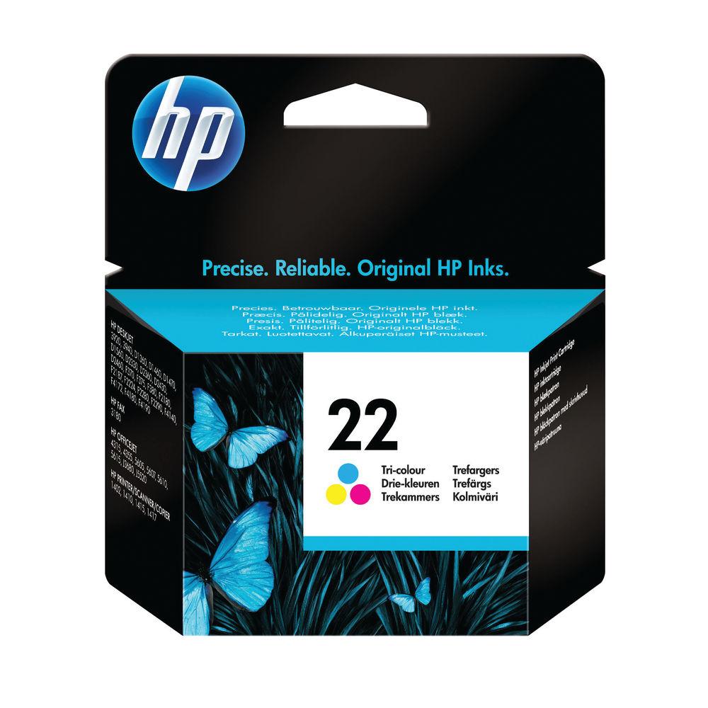 HP 22 Tri-Colour Ink Cartridge - C9352AE
