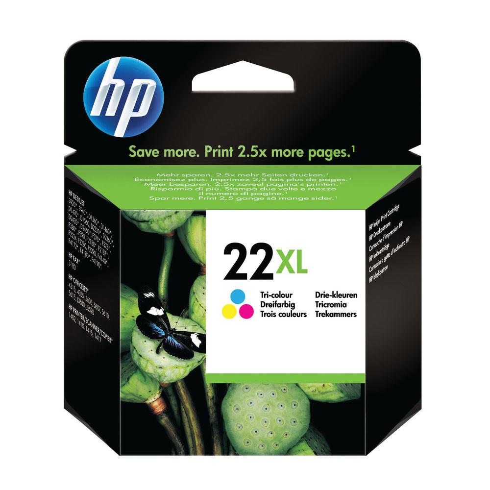 HP 22XL Tri Colour Inkjet Cartridge High Capacity | C9352CE