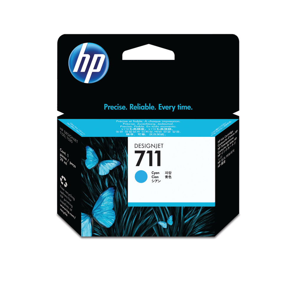HP 711 Cyan Ink Cartridge - CZ130A