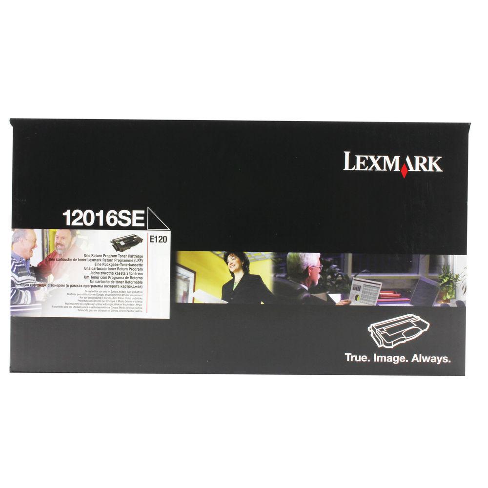 Lexmark E120 Black Toner Cartridge - 12016SE