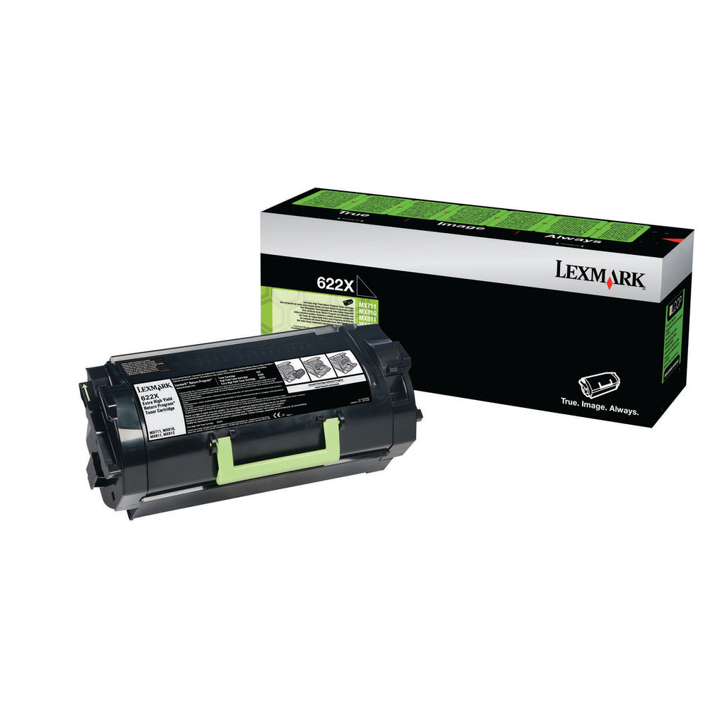 Lexmark 622X Black Toner Cartridge - Extra High Capacity 62D2X00