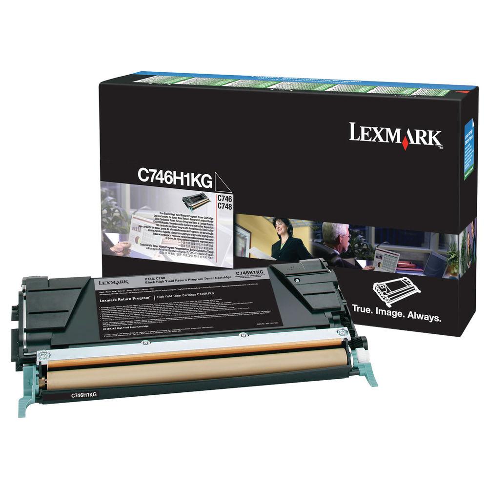 Lexmark C746 Black Toner Cartridge - High Capacity C746H1KG