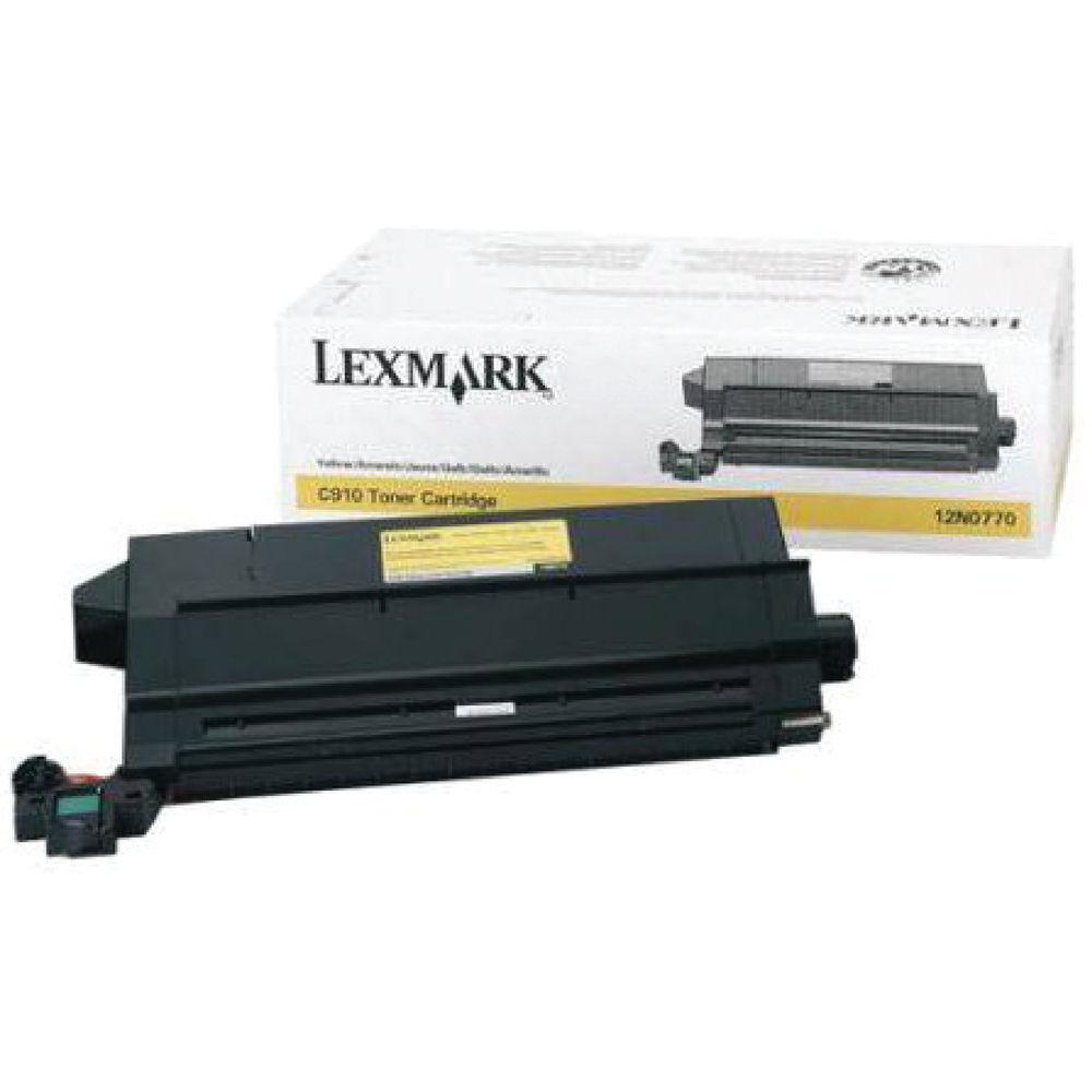 Lexmark C910 Yellow Toner Cartridge - 0012N0770