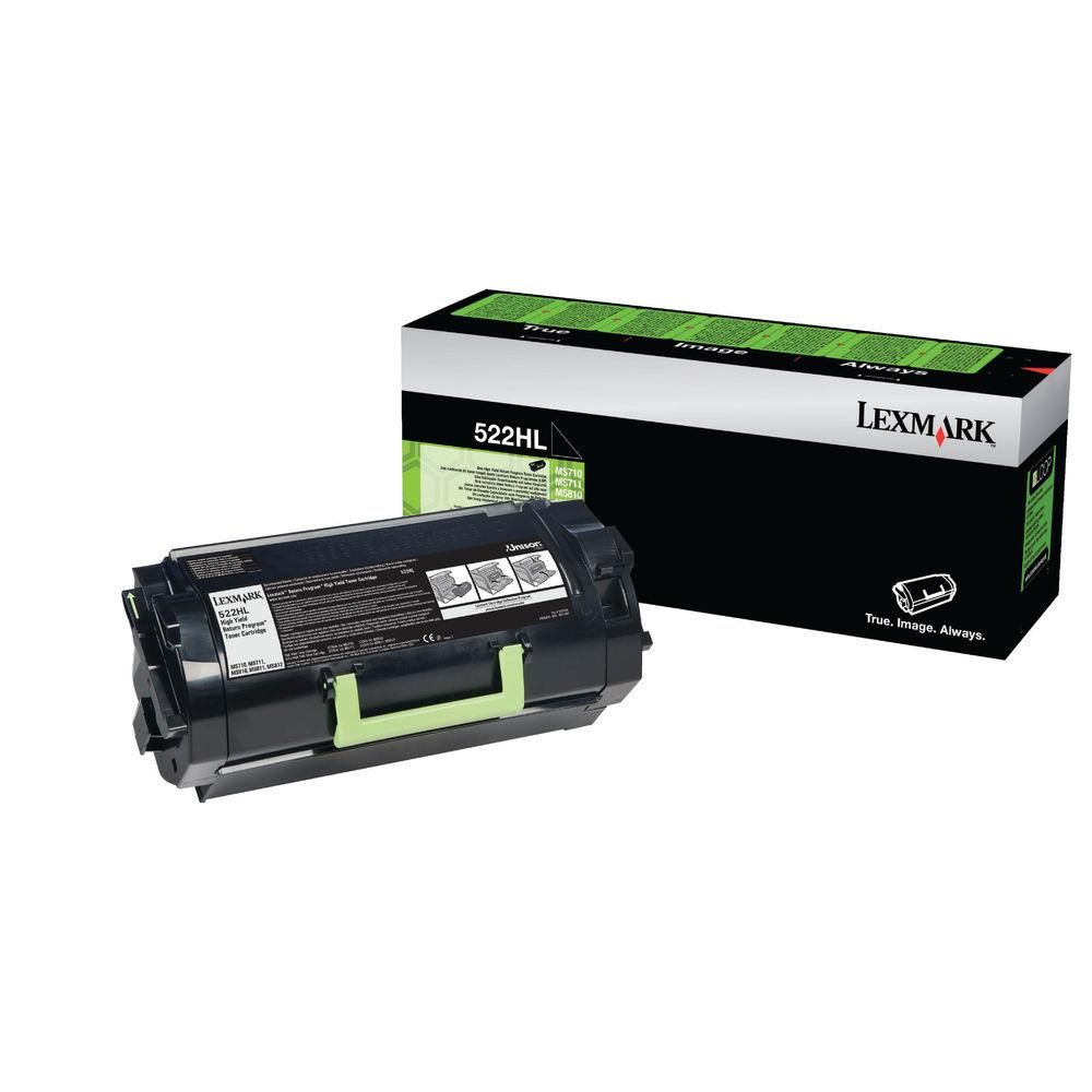 Lexmark 522H Black High Yield Return Program Toner Cartridge 52D2H0L