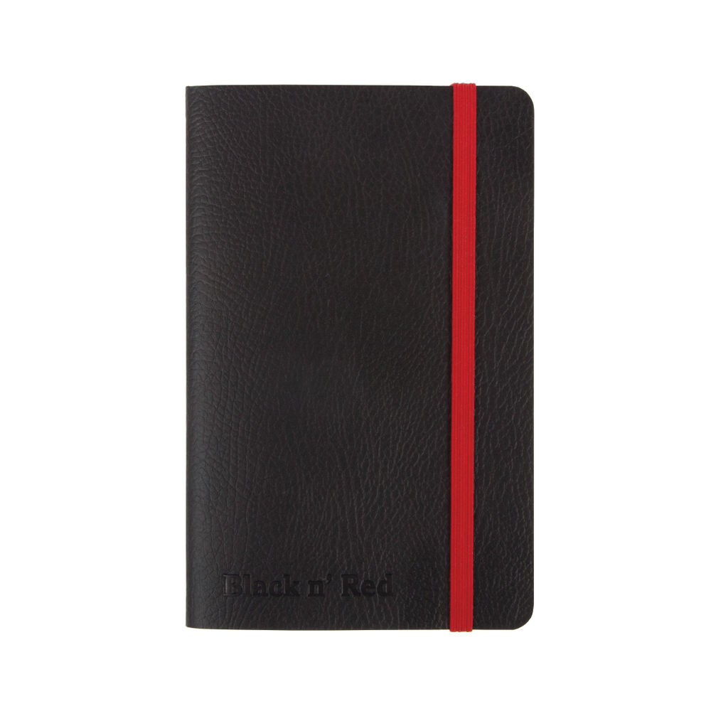 Black n Red Soft Cover Notebook A6 Black 400051205