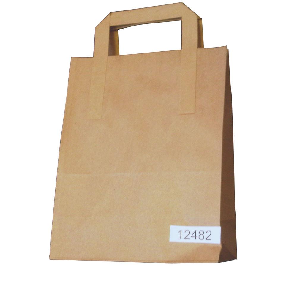 Paper Takeaway Bag Brown (Pack of 250) BAG-SPIC01-A